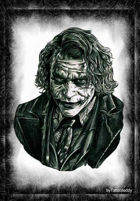 Heath Ledger par Tattooteddy